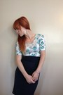Navy-pencil-thrifted-skirt-floral-rue21-shirt