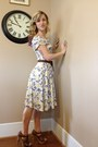 Brown-mia-girl-heels-white-floral-print-hand-me-down-dress