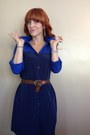 Navy-old-navy-dress-brown-calvin-klein-belt
