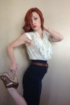braided calvin klein belt - Rimmel Kate Moss accessories