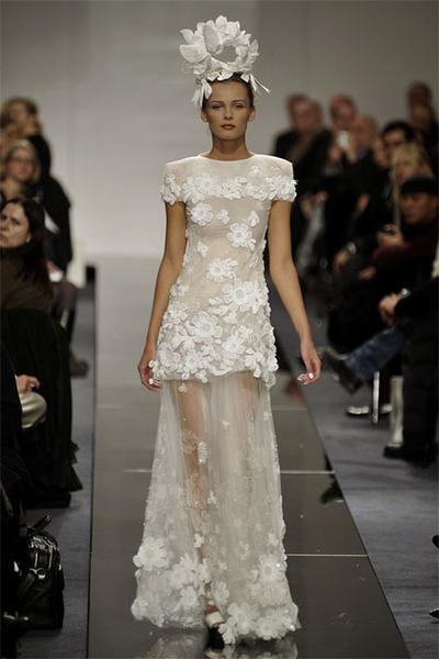 white Chanel dress
