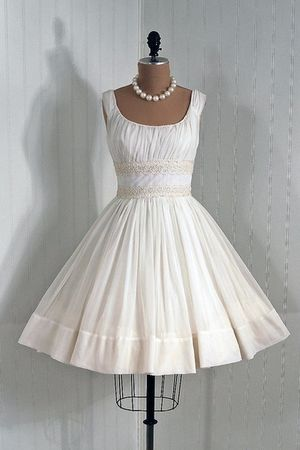 white vintage dress - white accessories