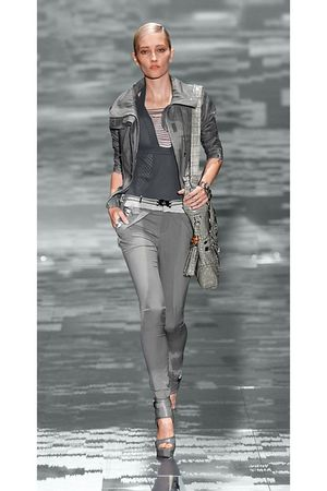 gray Gucci jacket - gray Gucci jeans - gray Gucci blouse - gray accessories