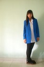 Blue-blazer-white-shirt-black-stockings-black-doc-martens-boots