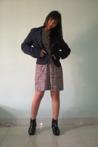 blazer - dress - rope and chain boots