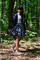 navy floral print tailor made skirt - navy long New Yorker cardigan