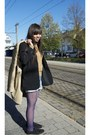 Sky-blue-h-m-shorts-black-oxfords-fab-shoes-shoes-beige-h-m-coat