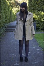 black oxfords Fab Shoes shoes - beige H&M coat - brown Zara sweater