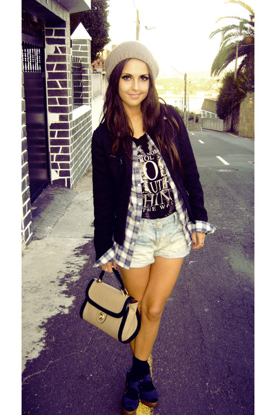 black Zara jacket - blue Zara jeans - blue H&M shirt