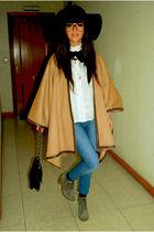 gold Zara coat - silver Zara boots
