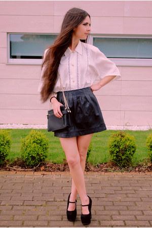 pull&bear skirt - Topshop shoes - Demode Vintage shirt - Zara bag