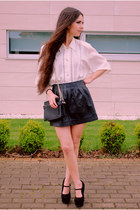 pull&bear skirt - Topshop shoes - Demode Vintage shirt - Zara bag