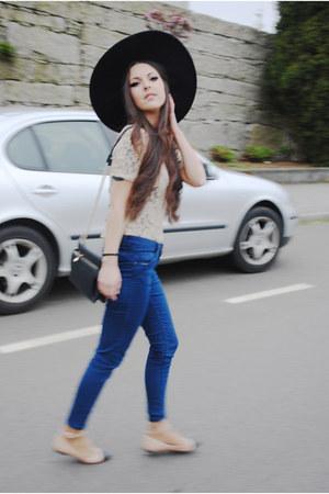 black Zara hat - Primark jeans - Zara t-shirt