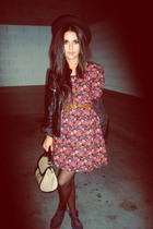 blue Bimba y Lola shoes - pink Primark dress - black Zara jacket