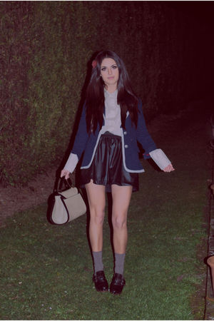 blue Primark jacket - black Zara skirt