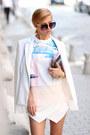 White-choies-blazer-woakao-bag-white-choies-shorts-black-choies-sunglasses