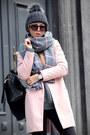 Light-pink-pink-coat-sheinside-coat-black-jeans-dark-gray-hat