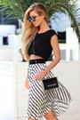 Black-persunmall-heels-woakao-bag-turquoise-blue-spektre-sunglasses