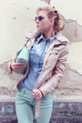 Aquamarine-jeans-light-pink-jacket-light-blue-shirt-aquamarine-bag