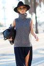 Black-boots-black-hat-heather-gray-choies-sweater-black-bag-navy-watch