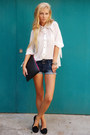 Black-shoes-white-queens-wardrobe-shirt-black-bershka-bag-navy-shorts