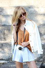 Cream-h-m-jacket-light-blue-striped-shorts-choies-shorts-tawny-h-m-top