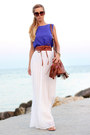 Brown-h-m-bag-brown-mango-sunglasses-white-maxi-skirt-let-them-stare-skirt