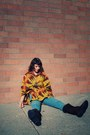 Poncho-forever21-cape-faux-suede-wal-mart-boots-high-waisted-bdg-jeans