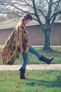 Faux-suede-wal-mart-boots-high-waisted-bdg-jeans-poncho-forever21-cape