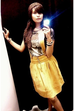 Mango skirt - Zara scarf - baby-G accessories - t-shirt