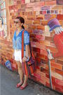 Blue-albee-white-shorts-beige-belt-red-sway-shoes-red-sunglasses-multi