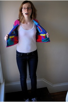 thrifted jacket - Urban Outfitters top - BDG jeans