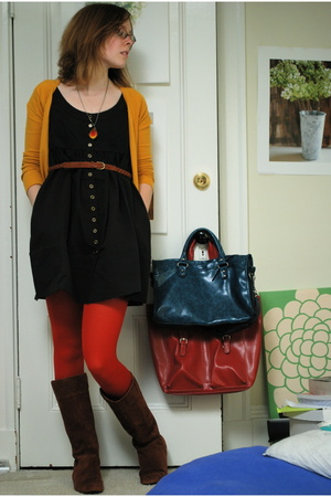 H&M sweater - Urban Outfitters dress - Anthropologie tights