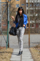 Cubus jacket - leopard panties H&M pants - black top H&M top