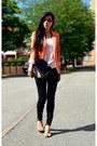 Black-skinny-jeans-lager-157-jeans-orange-zara-blazer-zara-blazer