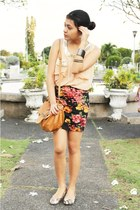 black Forever 21 skirt - bronze XOXO bag