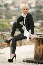 faux leather redherring leggings - Jane Norman blazer