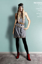 Ritzou dress - minimarket boots - H&M leggings - Bruuns Bazaar belt - acne belt