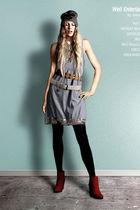 Ritzou dress - minimarket boots - H&M leggings - Bruuns Bazaar belt - acne belt