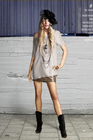 Burfitt t-shirt - H&M skirt - Pilgrim necklace - Pilgrim necklace - Cornelia nec