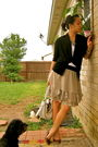 Beige-skirt-black-forever-21-sweater-white-banana-republic-top-gold-target