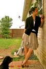 Beige-skirt-black-forever-21-sweater-white-banana-republic-top-gold-target
