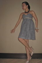 gray Pencey dress - beige Charles & Keith shoes - silver Gap necklace - silver e
