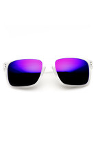 MEN'S ACTION SPORTS FROSTED COLOR AVIATOR SUNGLASSES WITH FLASH REVO LENSES 9234