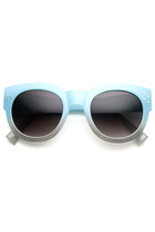 Retro Pool Beach Summer 2 Tone Oversize Sunglasses 8948