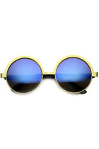 FANCY RETRO ROUND METAL WOMEN'S SUNGLASSES 9813
