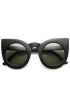 round cat eye zeroUV sunglasses