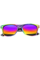 PARTY RAINBOW HORNED RIM MIRRORED REVO LENS SUNGLASSES 9449