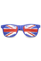 NOVELTY HORNED RIM MESH UNITED KINGDOM UK SUNGLASSES 9458