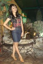Topshop blouse - Topshop skirt - Connie shoes
